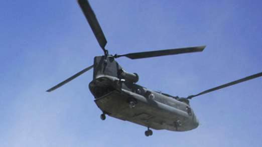 The Chinook suffered an engine failure, sources say (file pic)