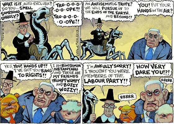 Guardian Cartoonist Steve Bell IS a Vile Antisemite – Despite His Protestations