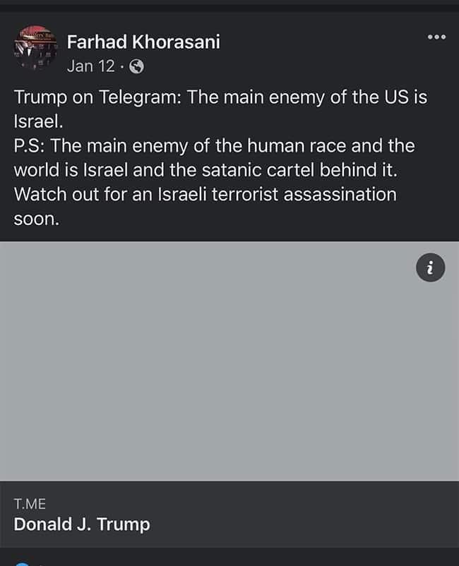 Farhad Khorasani post