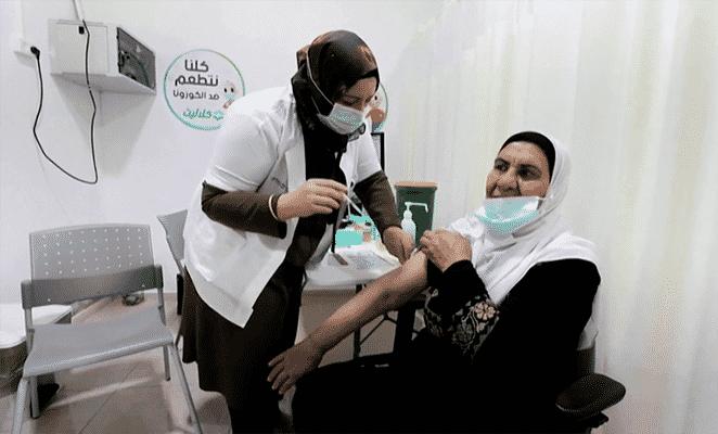 Arabs getting Covid-19 vaccine