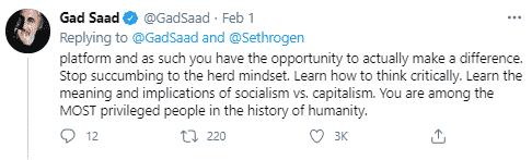 gad Saad tweet 4