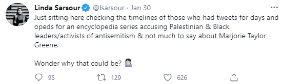 Linda Sarsour tweet