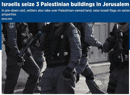 Latest Libel: Jewish Settlers Seized Palestinian Buildings in Silwan, Jerusalem
