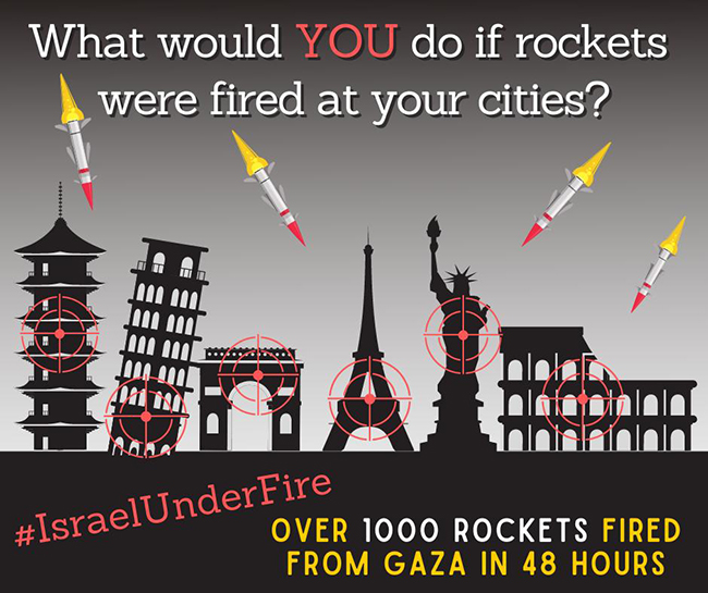 Rockets fired at your cities