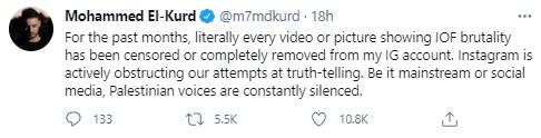 mohammed el kurd tweet