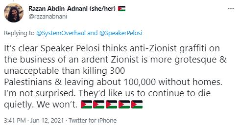 Razan tweet