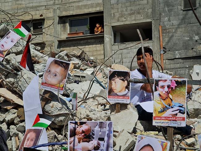 gaza rubble propaganda