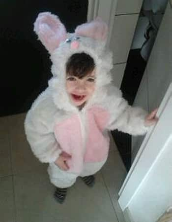 Adele before the terror attack in a bunny costume for Purim