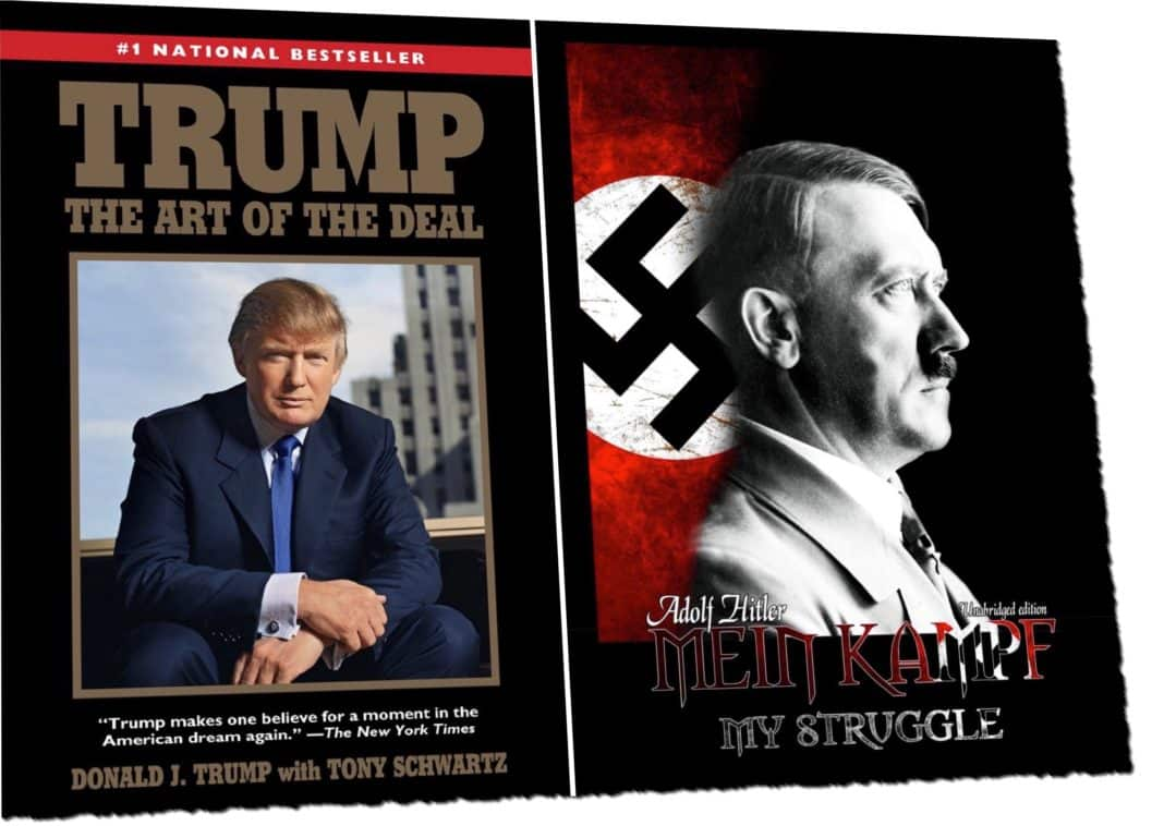 stop comparing trump to hitler israellycool. Black Bedroom Furniture Sets. Home Design Ideas