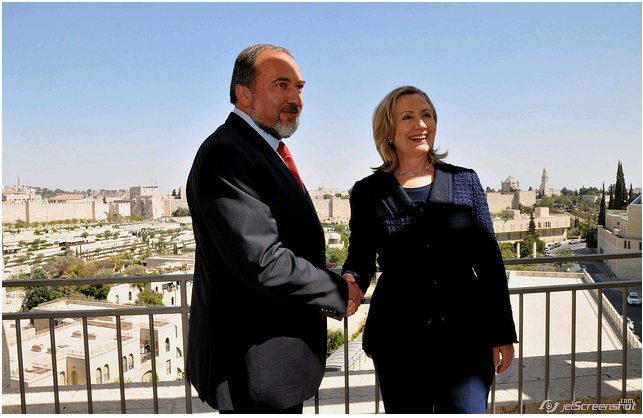 Avigdor Lieberman and Hillary Clinton
