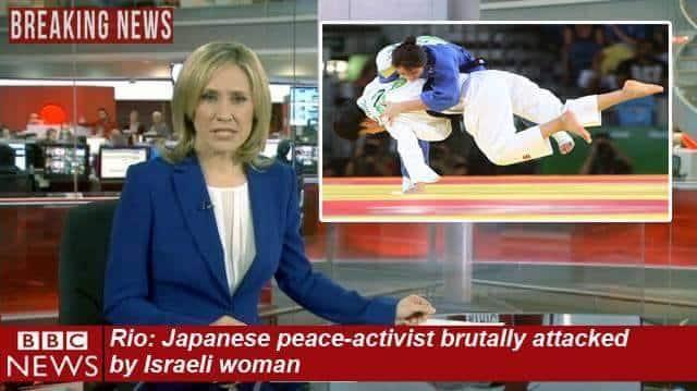 BBC Sport News Judo Israeli woman attacks Japanese peace activist
