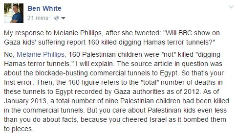 Ben White about Melanie Phillips