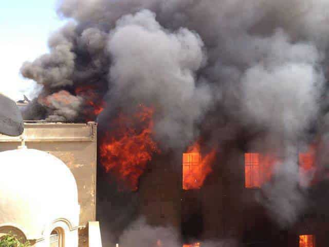 Burning church copts egypt
