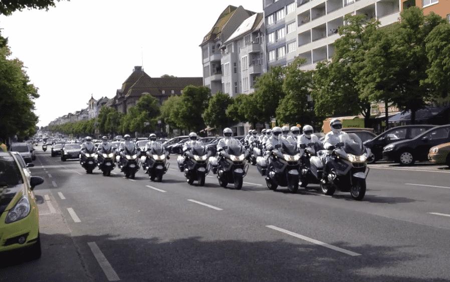 motorcyles from motorcade Berlin