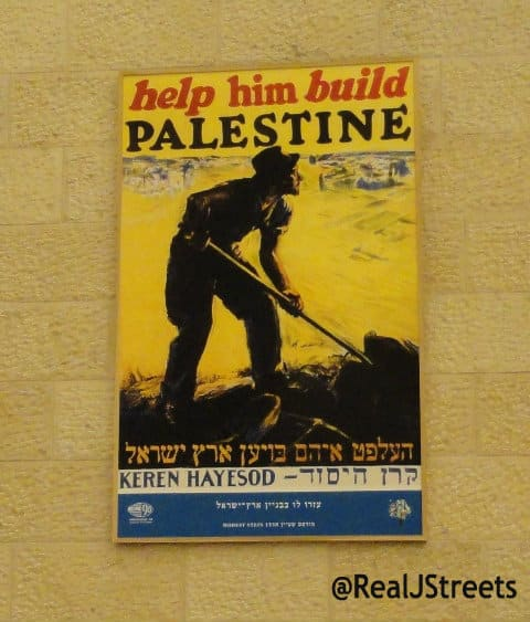 photo of poster build Palestine