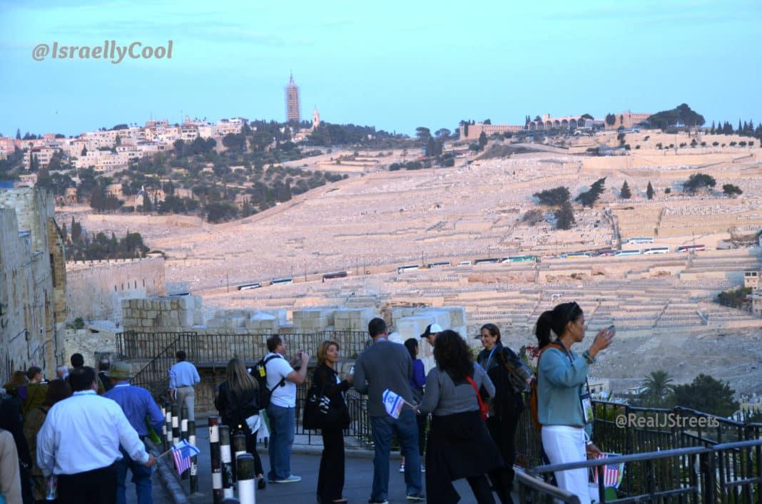 image from Old City, photo Har Hazetim, cemetery Jerusalem