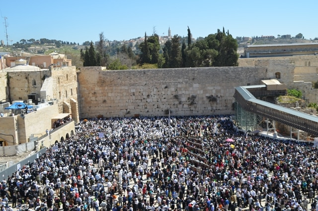 Kosel, Western Wall image on Passover.