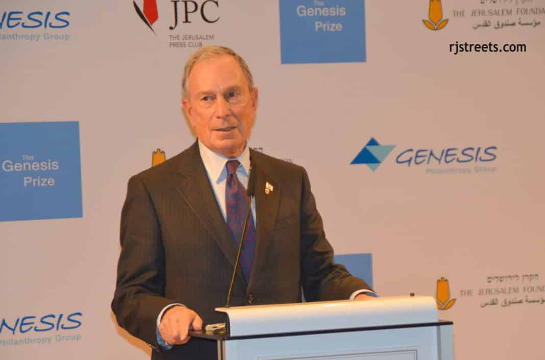 Michael Bloomberg speaking in Jerusalem