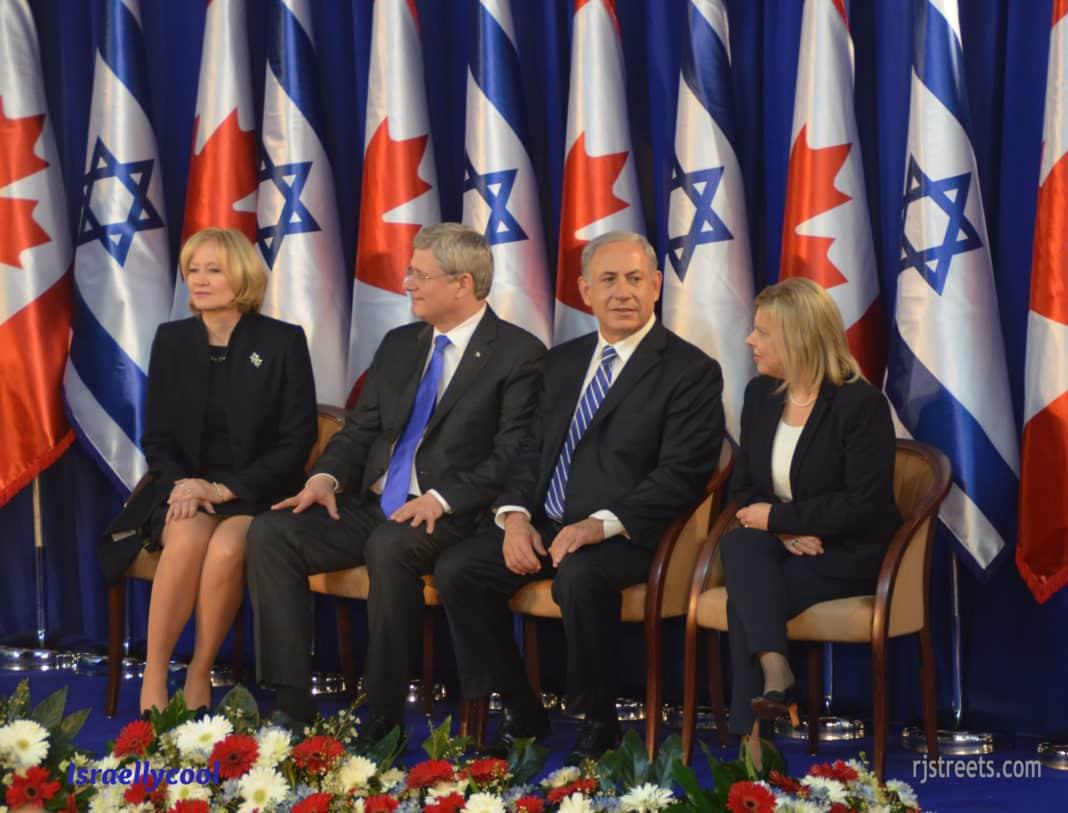 photo Steven Harper, picture Prime minister Canada and Israel , image Canada Prime minister in Israel