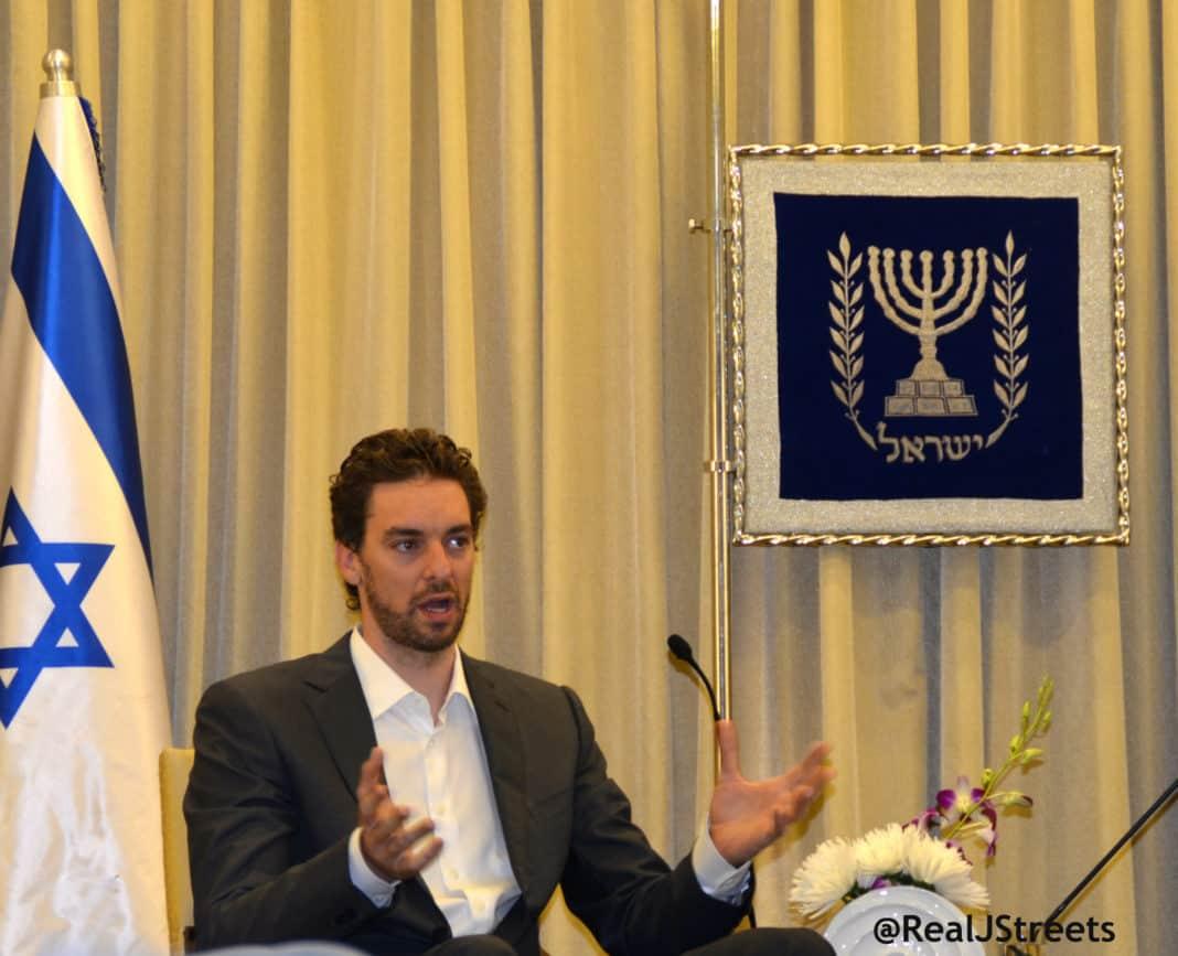 image Pau Gasol , picture Gasol in Israel
