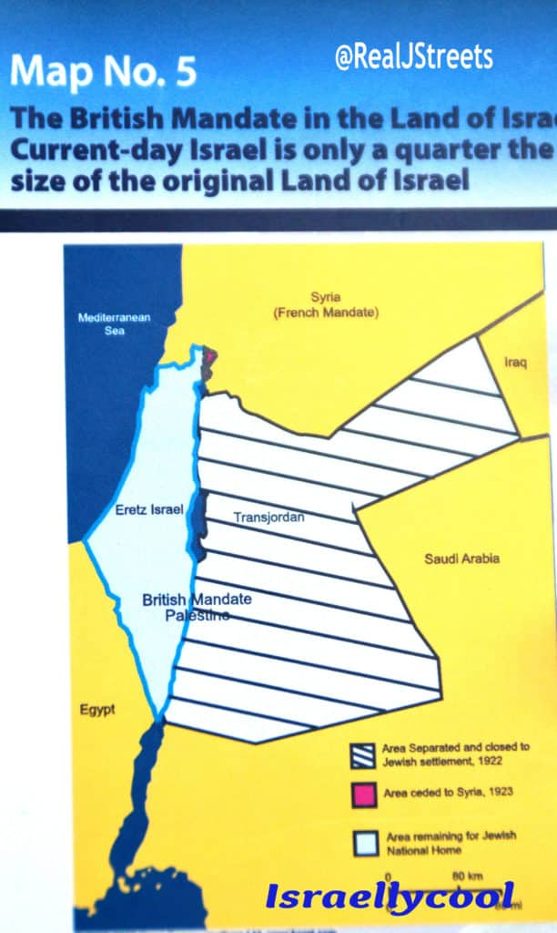 image map of Israel in British Mandate 1922