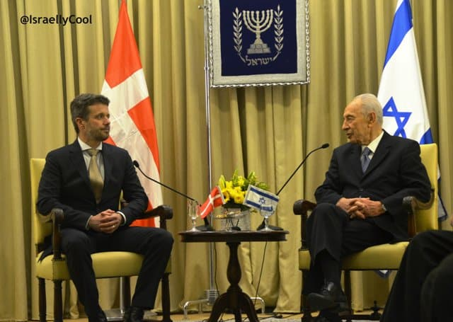 photo Prince Denmark and President Israel, image royal viisit to Israel
