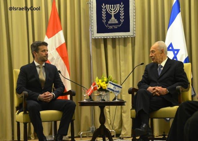 photo Prince Denmark and President Israel, image royal viisit to Israel