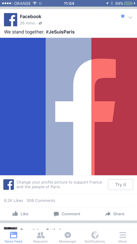 reader post reflections on the french flag filter israellycool