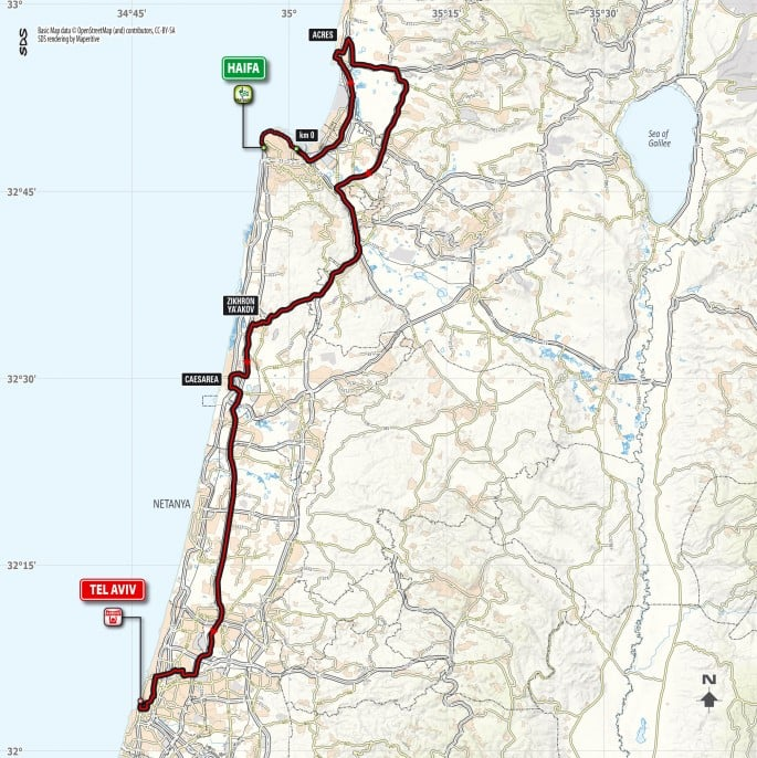 Giro d'Italia 2018 will begin with three stages in Israel