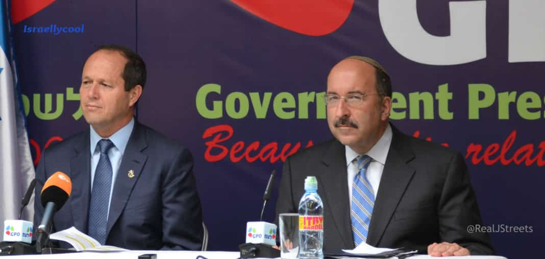 Jerualem mayor BArkat and Amd Dore Gold