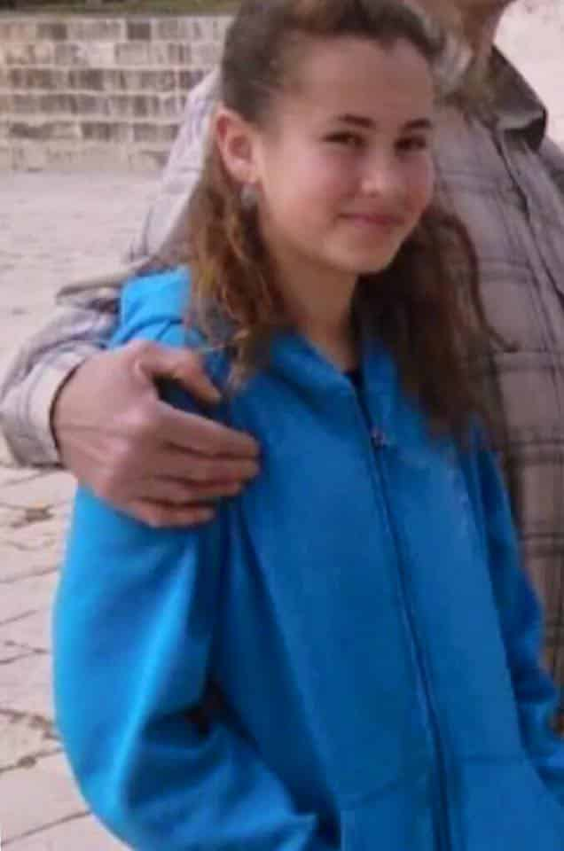 13 year old Halel Yaffa Ariel was stabbed to death by an Arab terrorist as she slept in her bed.