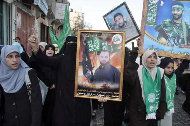 Hamas protest- Reuters