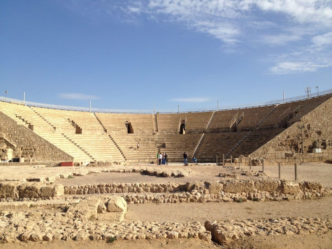 Image result for roman theatre in jaffa
