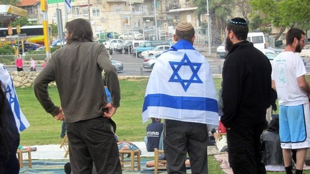 Israeli flag on Independence DAy
