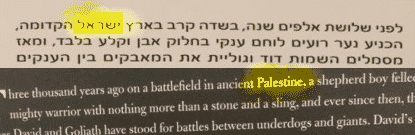 Israel and Palestine highlighted David and Goliath