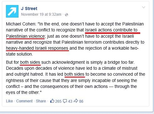 J Street's immediate response after the Har Nof Massacre was to quote Boston Globe reporter Michael Cohen