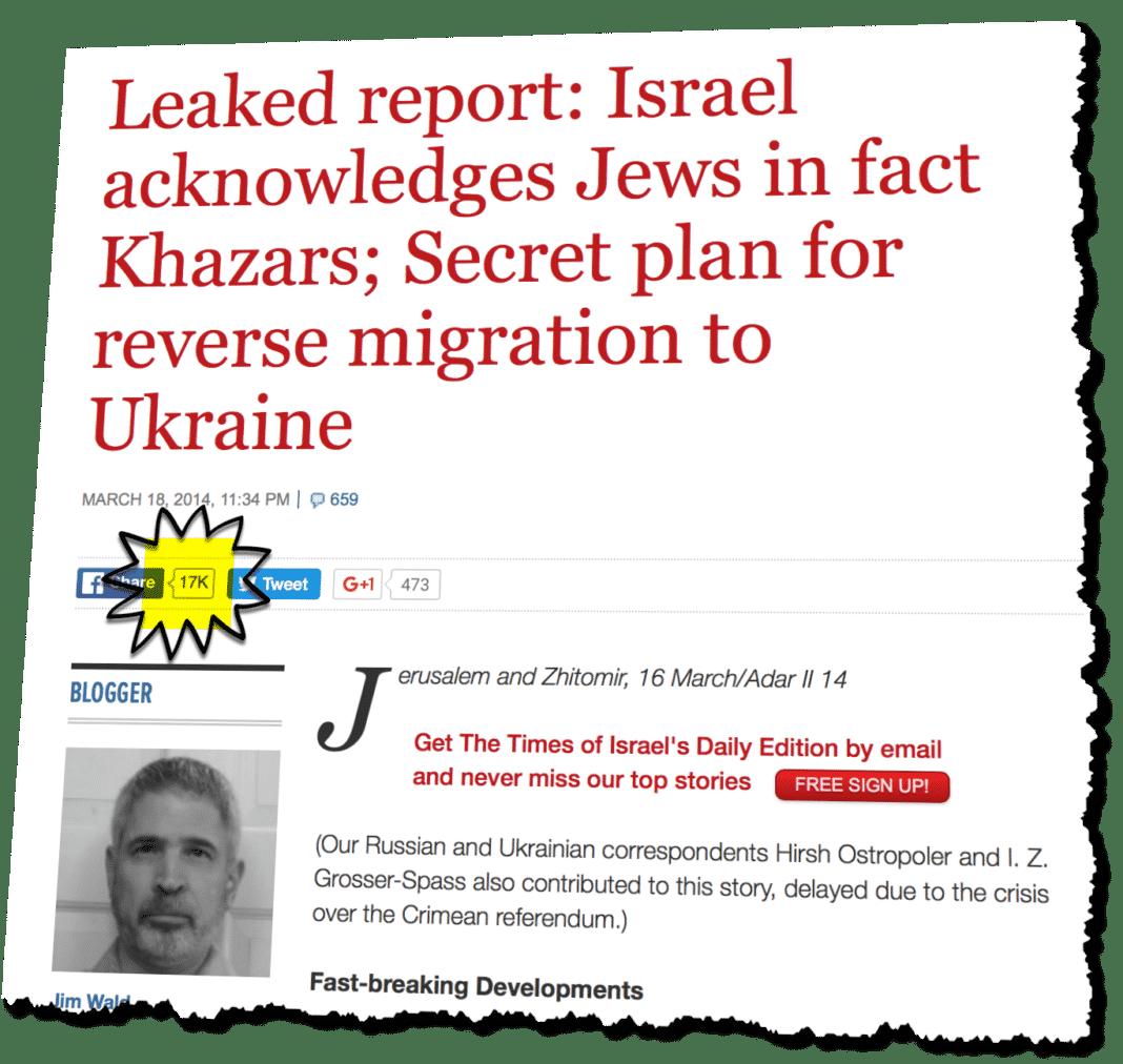 When Satire Meets A Fanatical Devotion To Jew Hatred