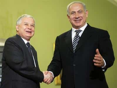 Lech Kaczynski Israel