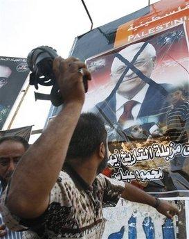 Mahmoud Abbas poster- AP