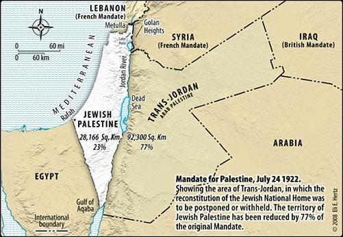 Mandate for Palestine 1922