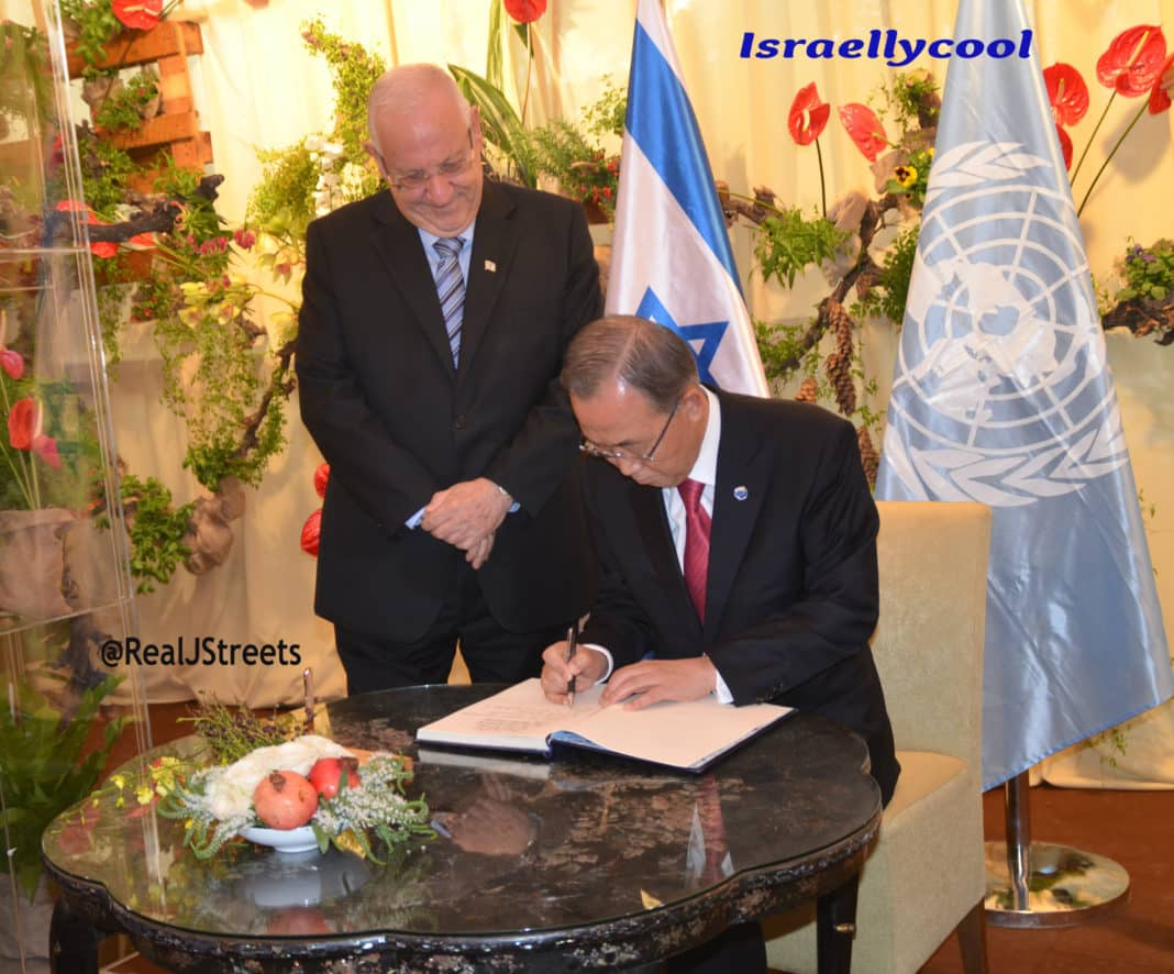 imag e3Ban Ki moon in Israel