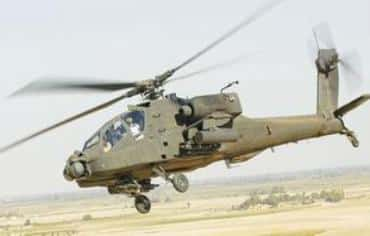Apache attack helicopter Photo: Courtesy