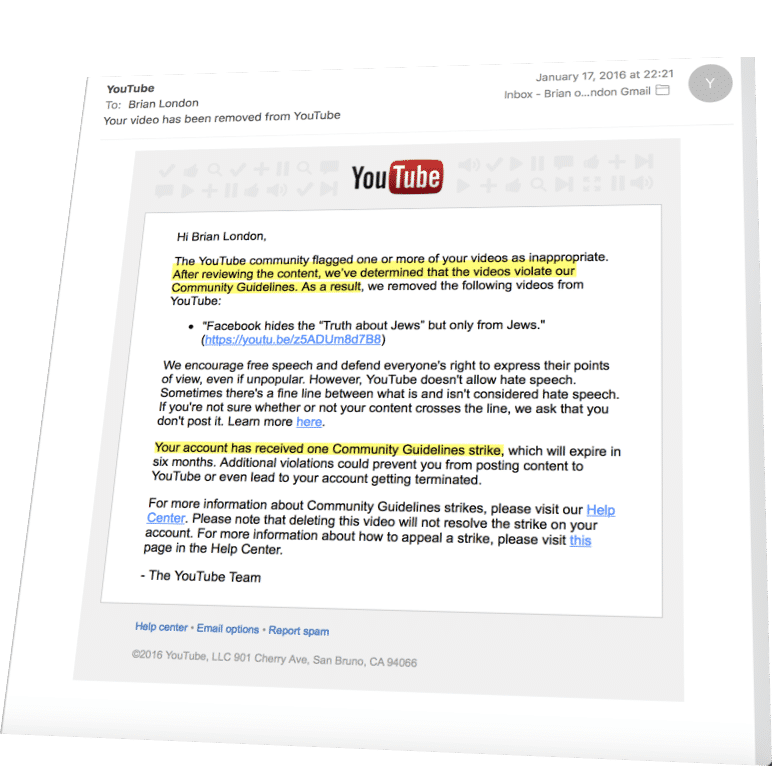 how to take down a video from youtube