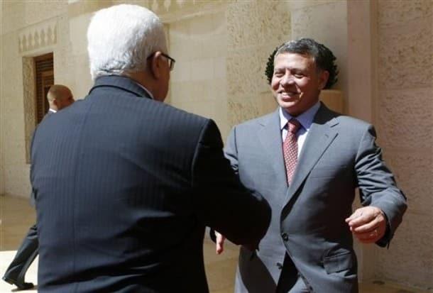 King Abdullah Mahmoud Abbas