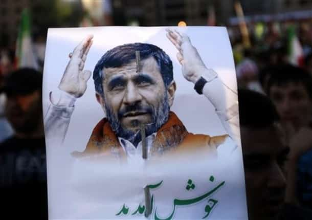 Ahmadinejad sign