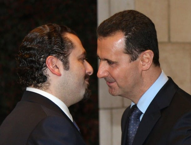 Assad and Hariri - Reuters