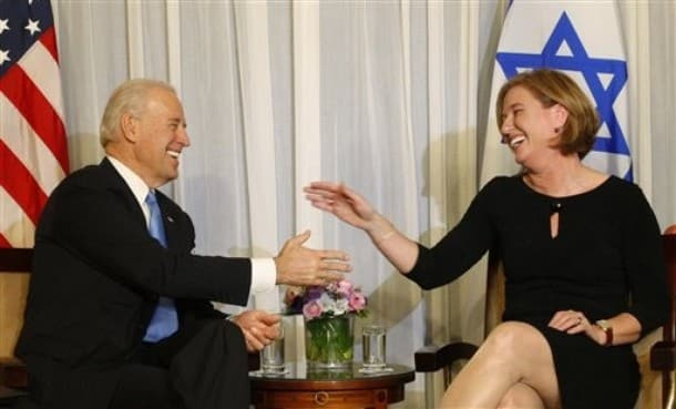 Biden Livni - AP