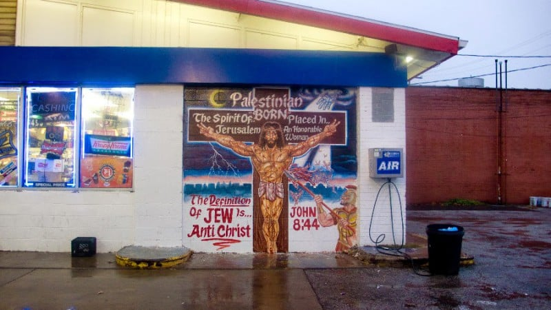 circumcision gas station mural in cleveland has jews very