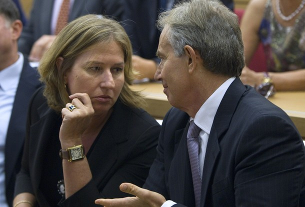 Tony Blair Tzipi Livni