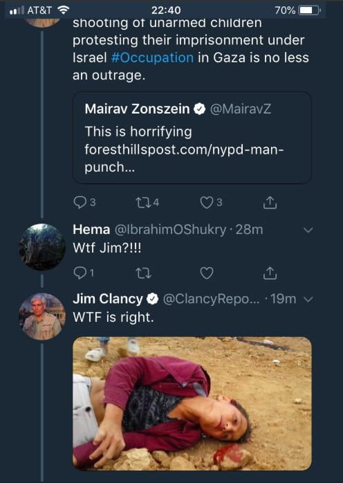 Former CNN Journalist Jim Clancy's Vile Reaction to Antisemitic Attack on Boy Clancy-1